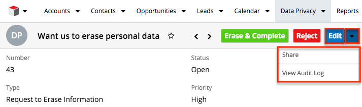 Data Privacy Features in Sugar 8.x