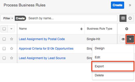 SugarBPM export feature